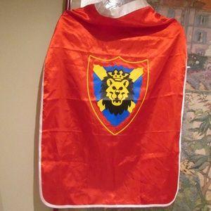 Rare Legoland Knight Lion Cape Costume